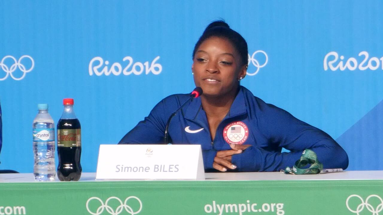 Simone Biles On Being The Flag Bearer