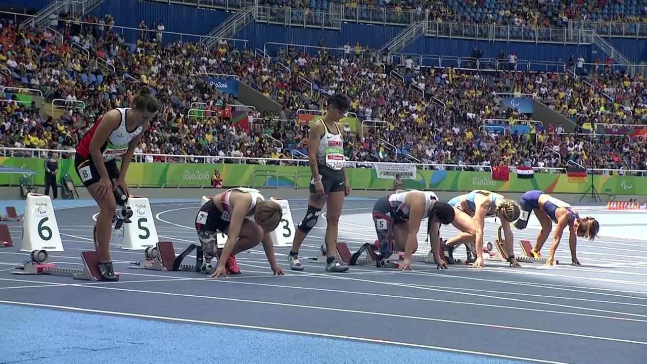 Scout Basset | Women's 100m - T42 Round 1 Heat 1 |2016 Paralympic Games