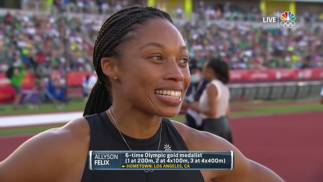 Allyson Felix Interview After 200 Meter Final | Track & Field U.S. Olympic Team Trials 2021
