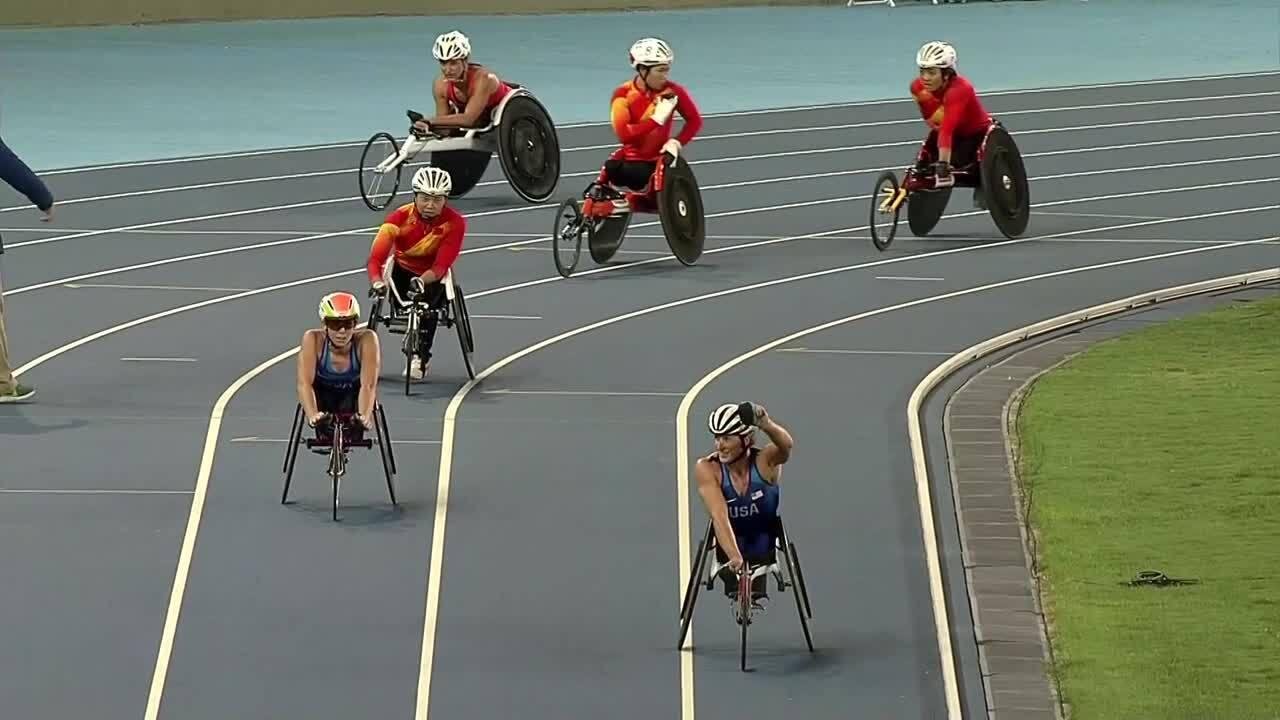 Tatyana McFadden and Amanda McGrory | GOLD | Women's 800m T54 Final | 2016 Paralympic Games