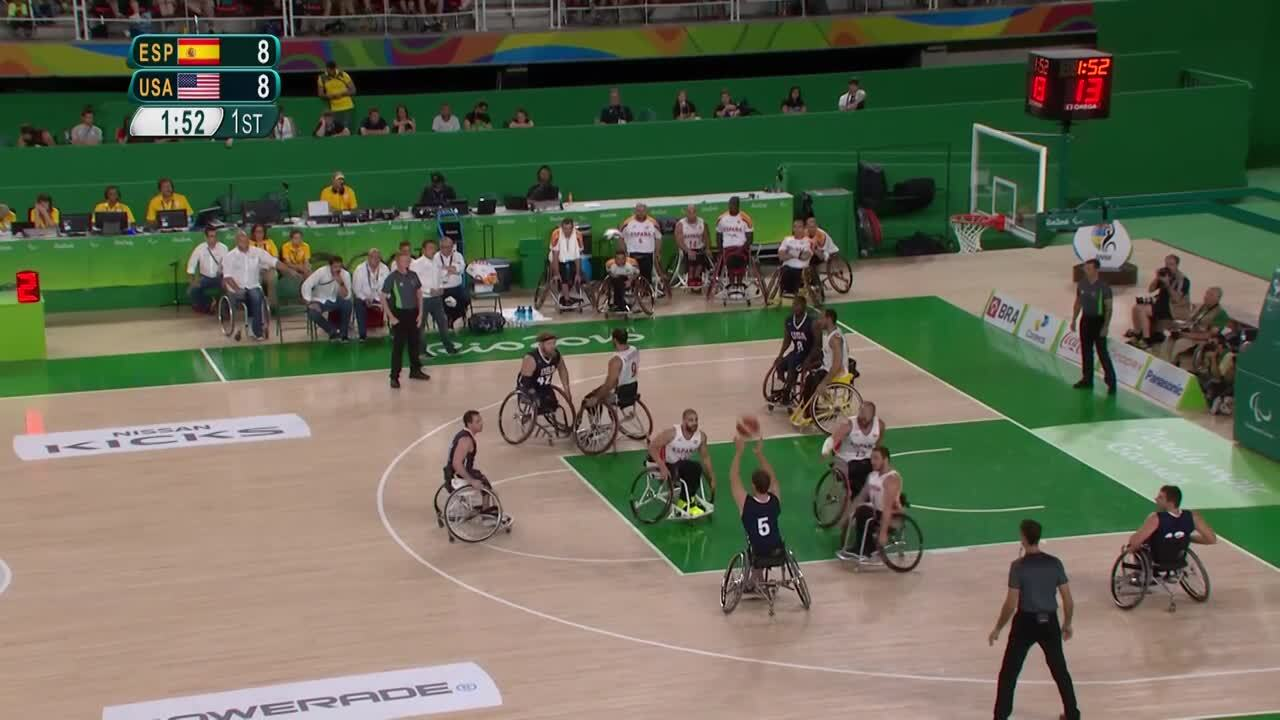 Men's Wheelchair Basketball | USA vs Spain Gold Medal Game Highlights | 2016 Paralympic Games