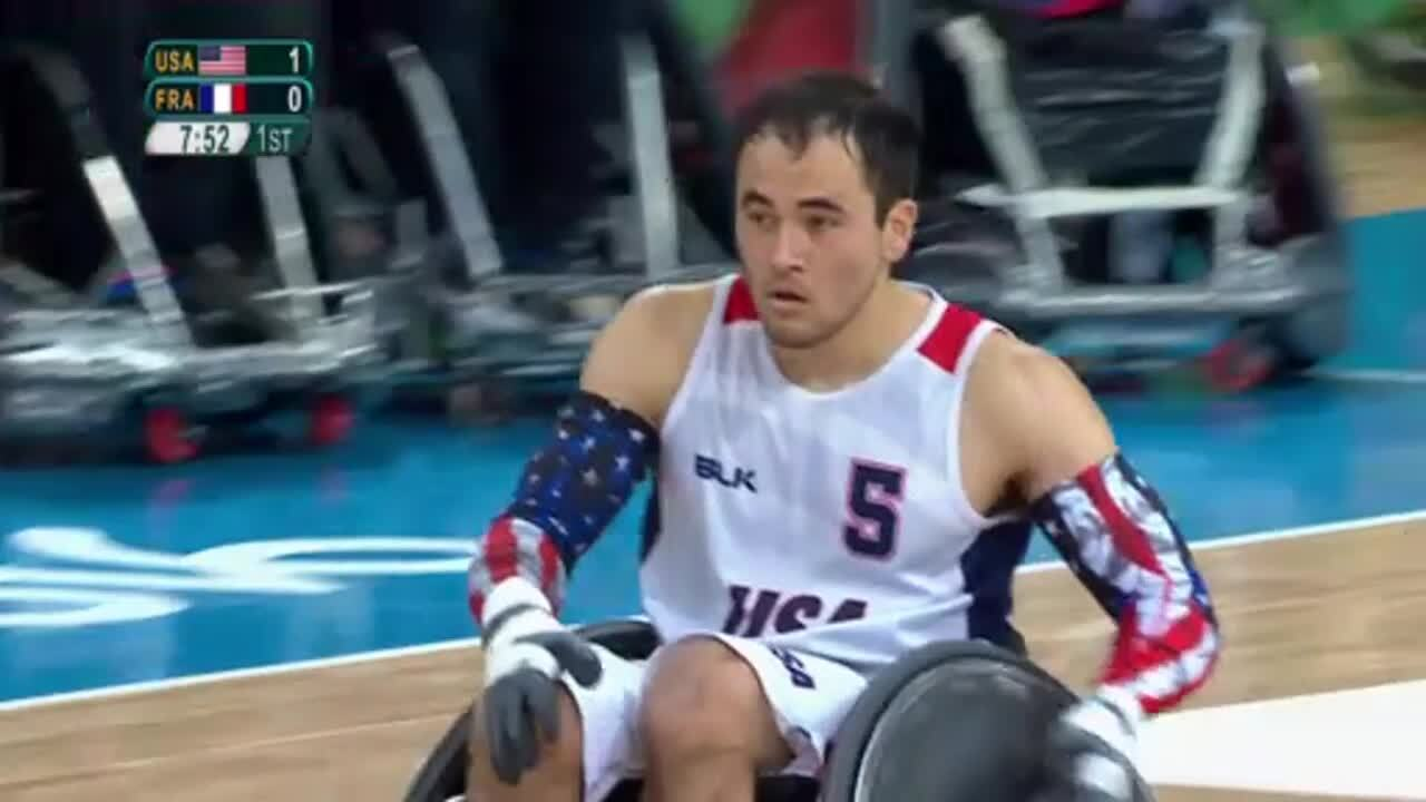 Wheelchair Rugby | USA vs France | 2016 Paralympic Games