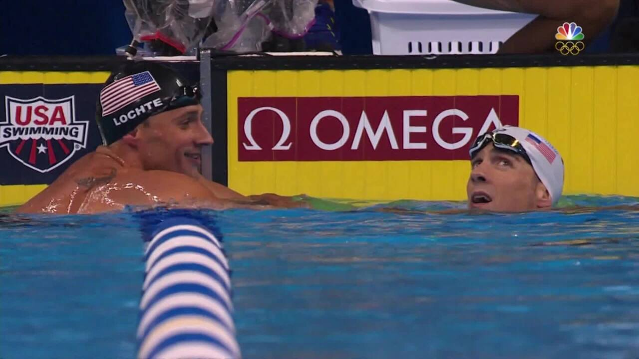Olympic Swimming Trials   What Did Lochte, Phelps Talk About Pre-Race?