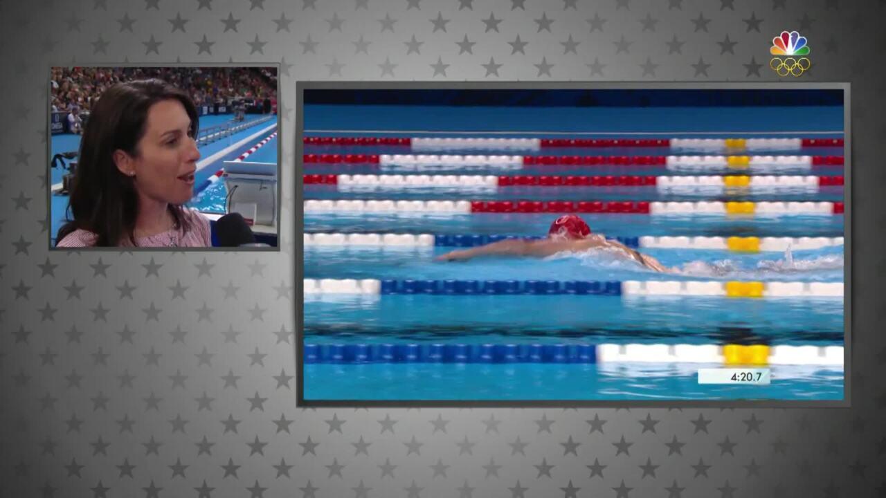 Olympic Swimming Trials   Janet Evans Praises Katie Ledecky's 'Beautiful Stroke'