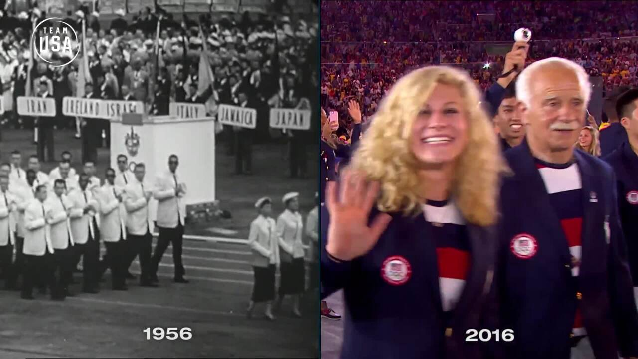 Then & Now: Opening Ceremony March In