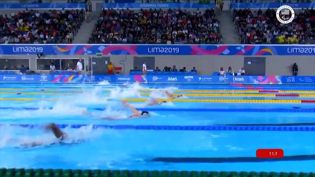 Natalie Sims 100-meter Freestyle Gold Highlight | Parapan American Games Lima 2019
