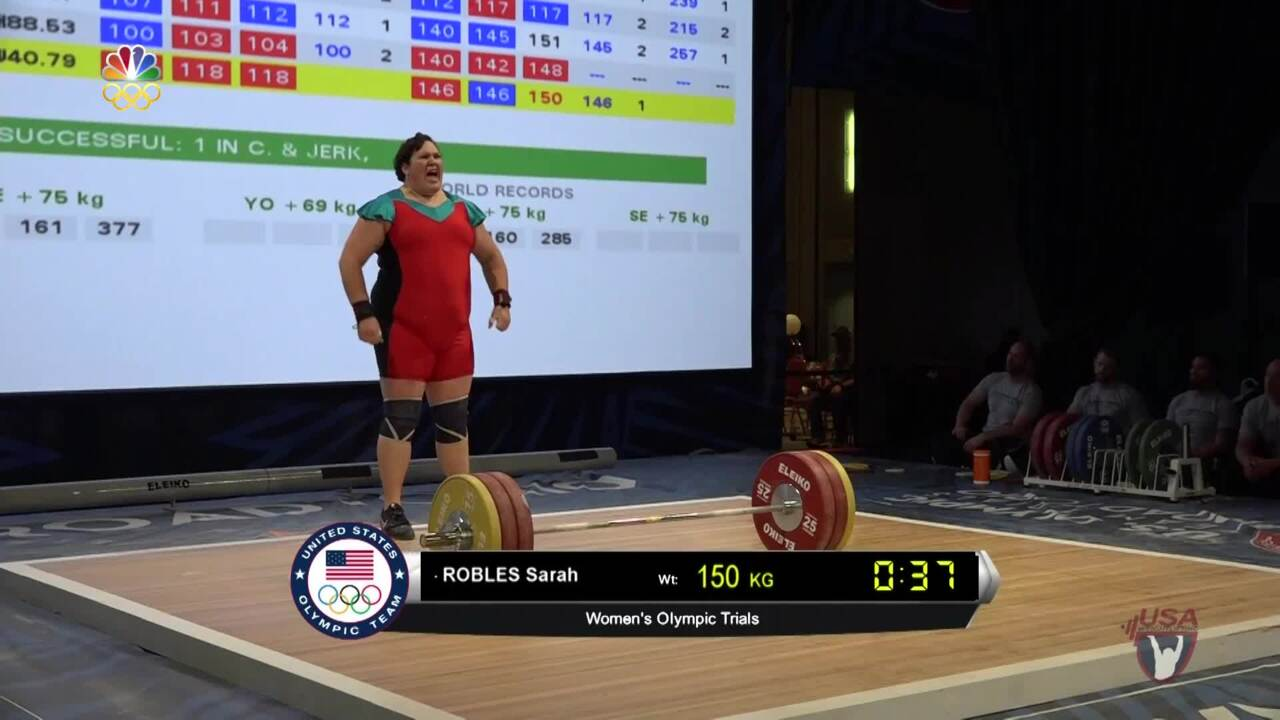 Sarah Robles Competes At The 2016 U.S. Olympic Team Trials For Weightlifting