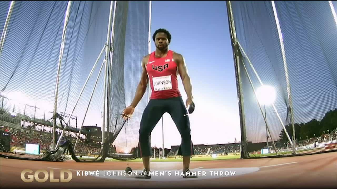 Kibwe Johnson Throws For Gold