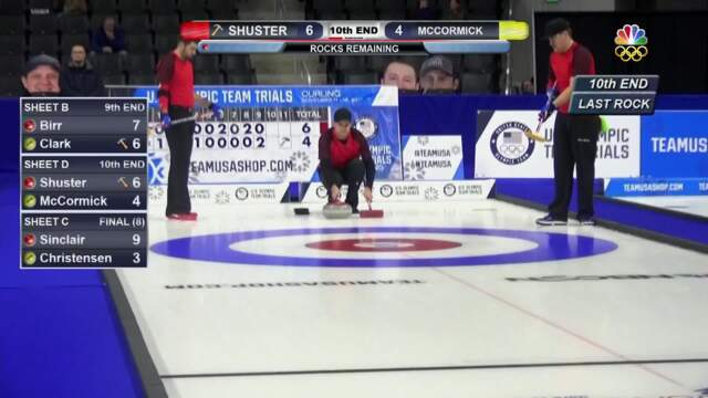 Olympic Curling Trials | Team Shuster Notches Its 5th Win