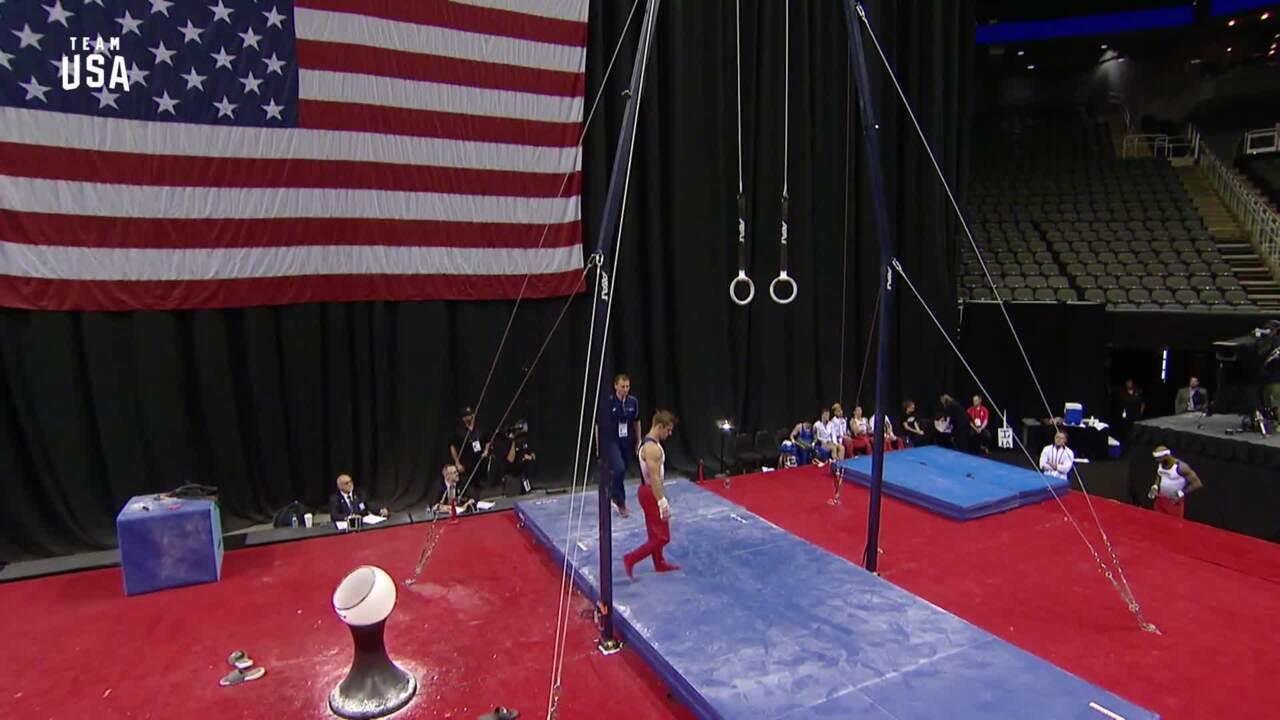 Sam Mikulak Rings | Team USA Champions Series Presented By Xfinity