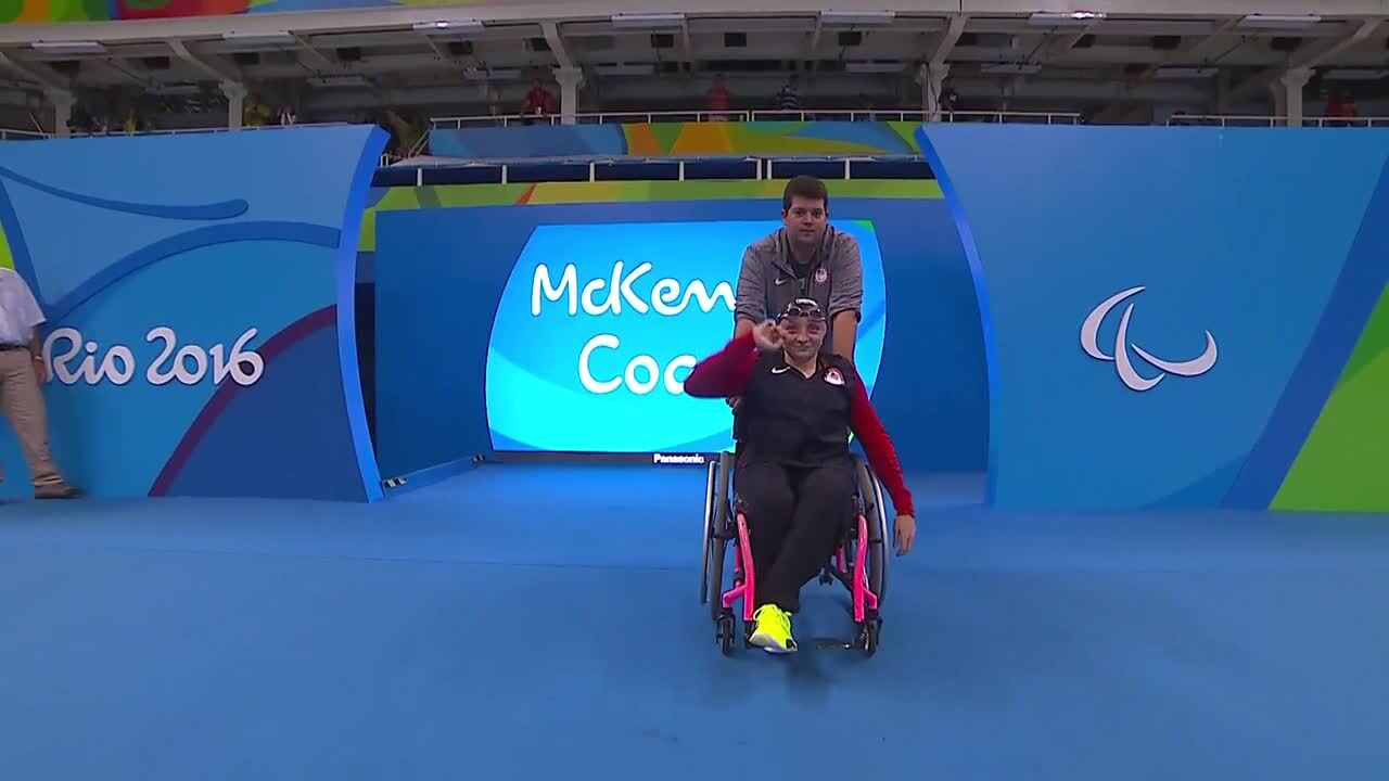 McKenzie Coan, Cortney Jordan | Women's 100m Freestyle S7 Final Gold and Silver | 2016 Paralympic Ga