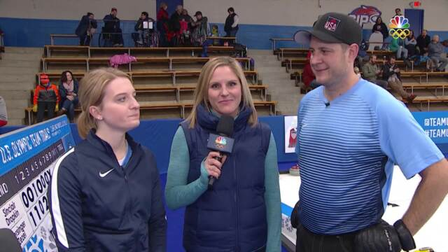 Olympic Mixed Doubles Curling Trials | Christensen-Shuster Discuss Their Win Over Walker-Smith