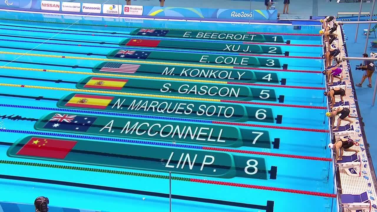 Michelle Konkoly | Women's 100M Freestyle S9 Gold | 2016 Paralympic Games