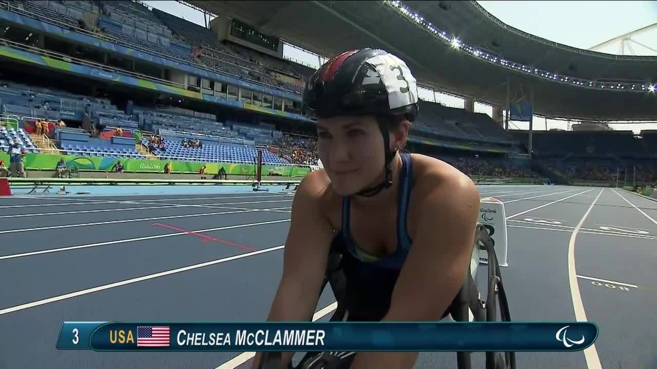 Chelsea McClammer | Women's 800m - T52/53 Round 1Heat 1 | 2016 Paralympic Games