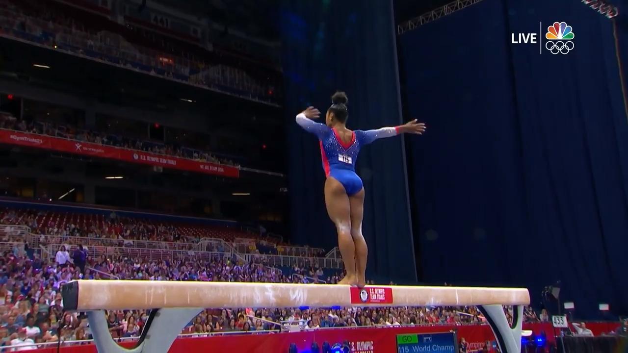 Jordan Chiles Beam Day 1 | Gymnastics U.S. Olympic Team Trials 2021