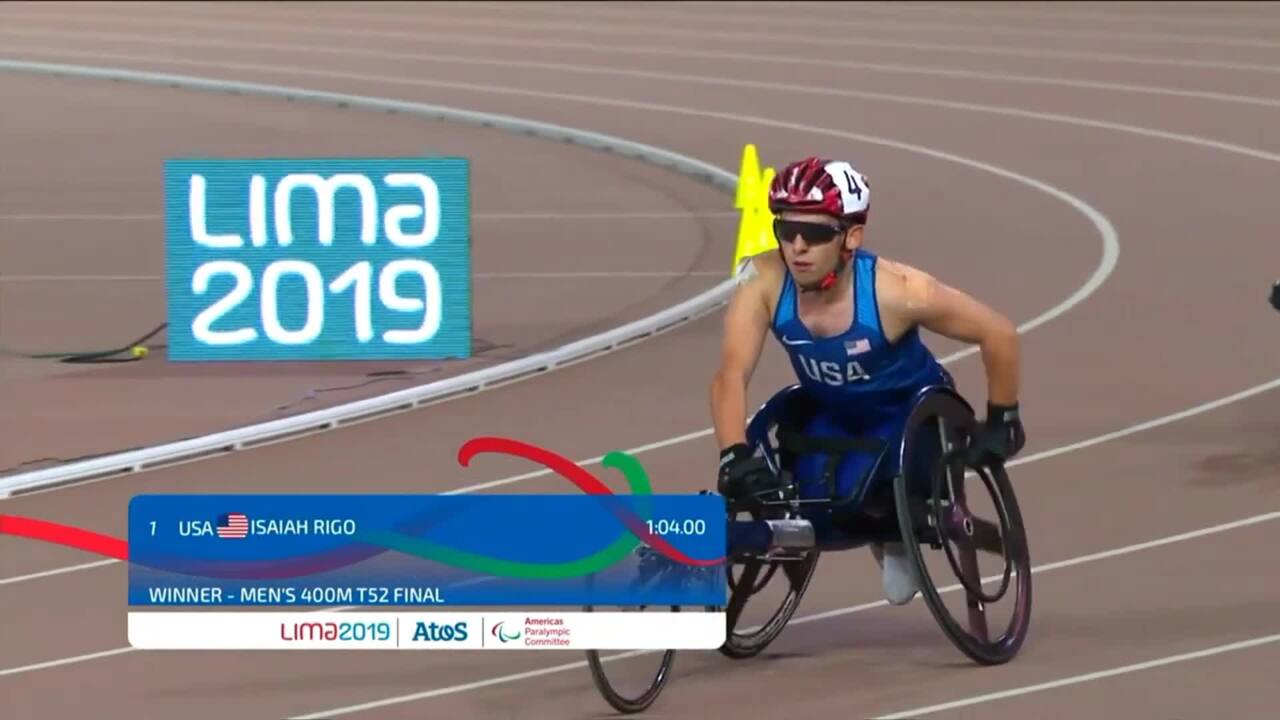 Isaiah Rigo Wins Gold in T52 400m | Parapan American Games Lima 2019