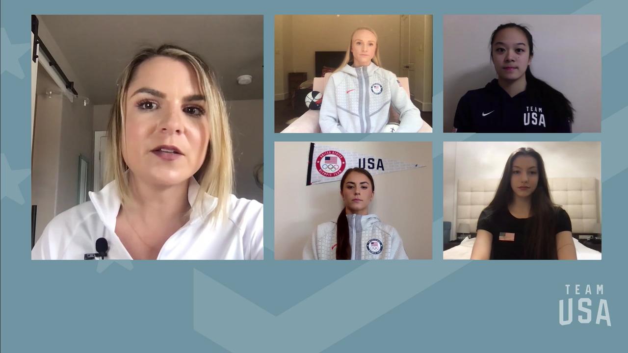 Sarah Bacon, Kassidy Cook, Evita Griskenas, Laura Zeng | Tokyo 2020 Team USA Virtual Media Summit