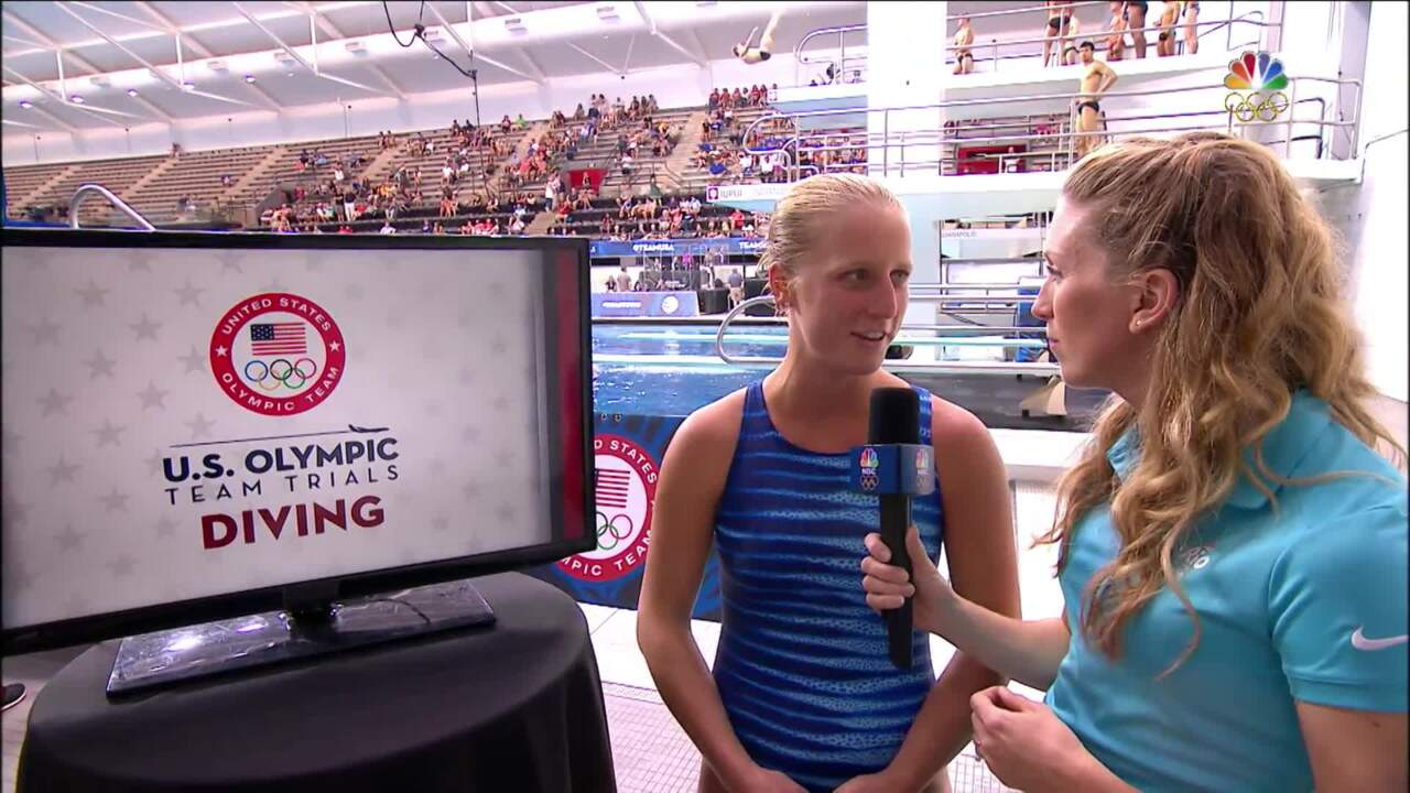 Olympic Diving Trials   Abby Johnston In Second After 3m Semifinal