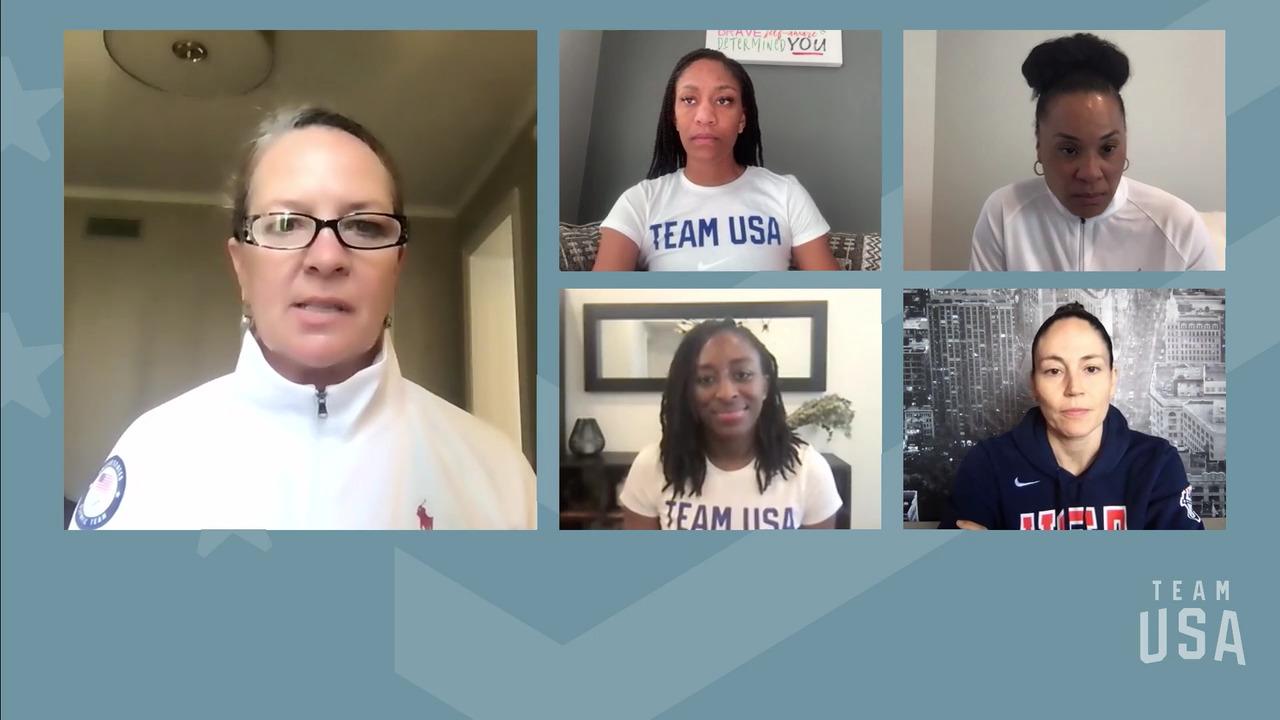 Sue Bird, Nnemkadi Ogwumike, Dawn Staley, A'ja Wilson   Tokyo 2020 Team USA Virtual Media Summit