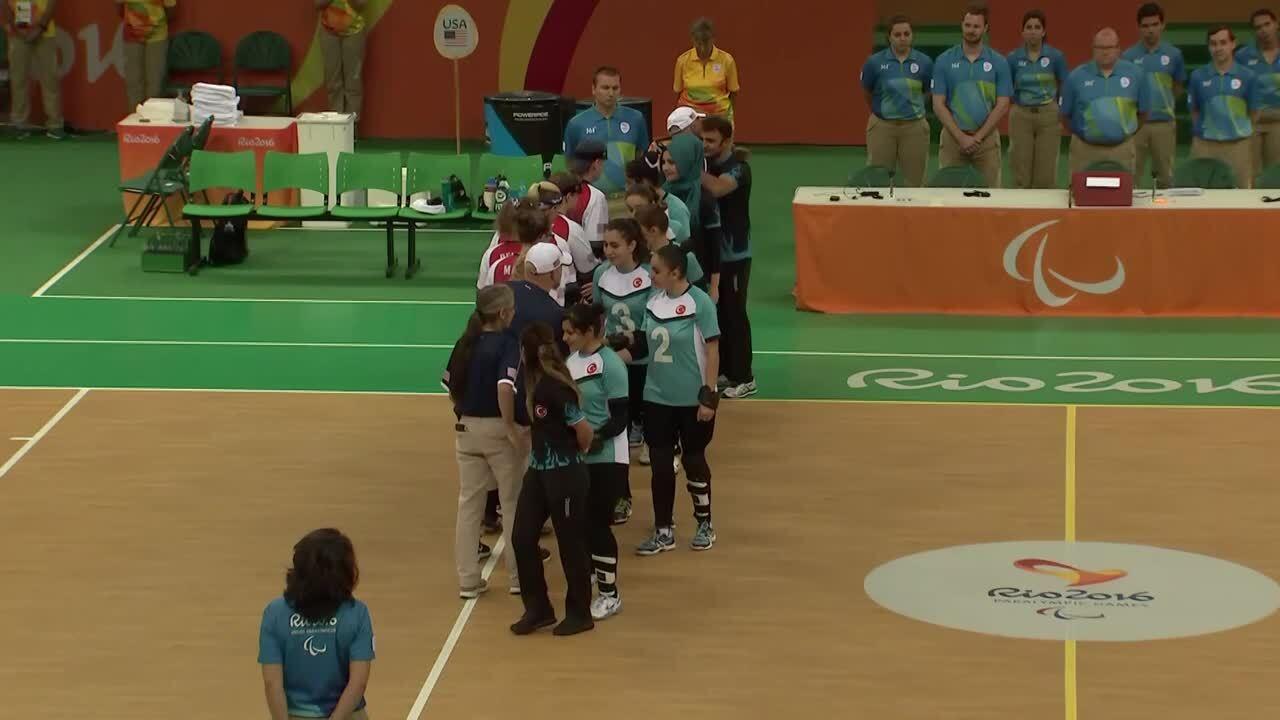 Women's Goalball Highlights   September 15  2016 Paralympic Games