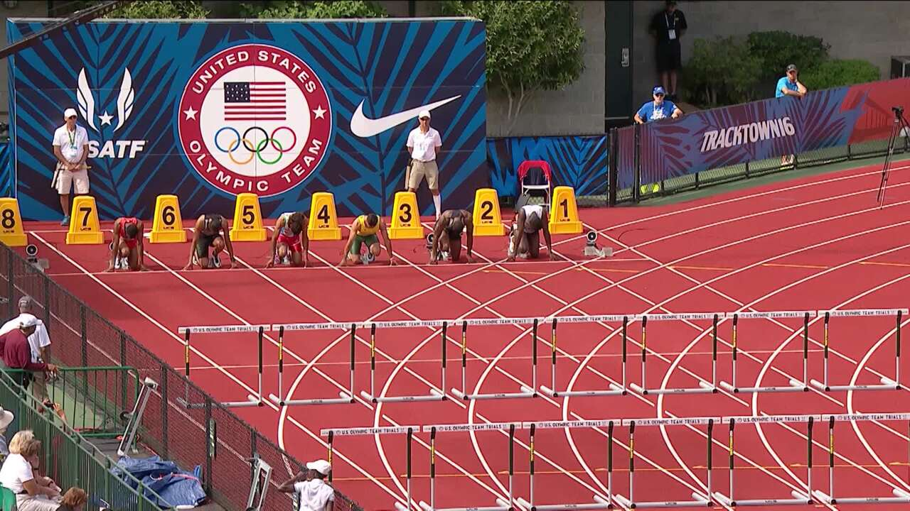 Olympic Track And Field Trials | College Football Player Devon Allen Wins Semifinal Heat