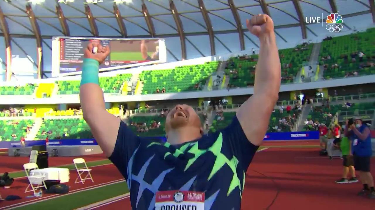 Ryan Crouser Breaks Shot Put World Record | Track & Field U.S. Olympic Team Trials 2021