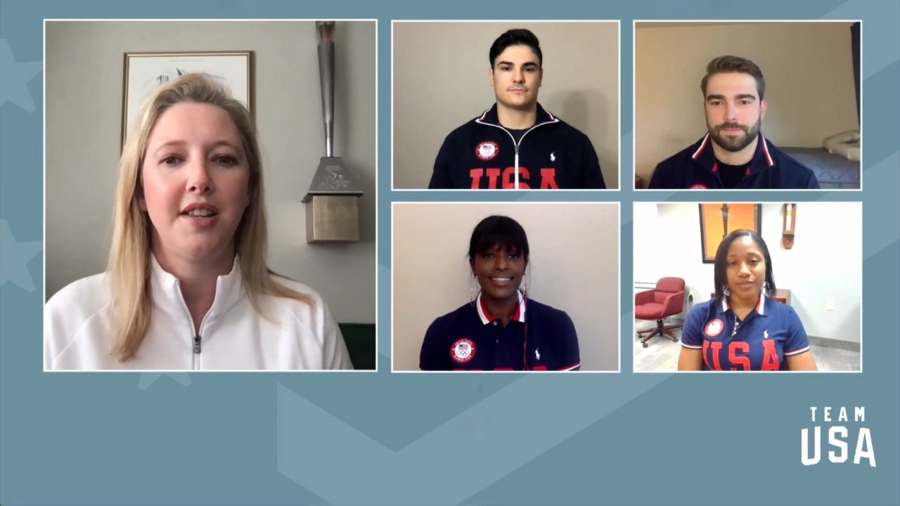 Hunter Church, Aja Evans, Sylvia Hoffman, Josh Williamson | Beijing 2022 Team USA Media Summit