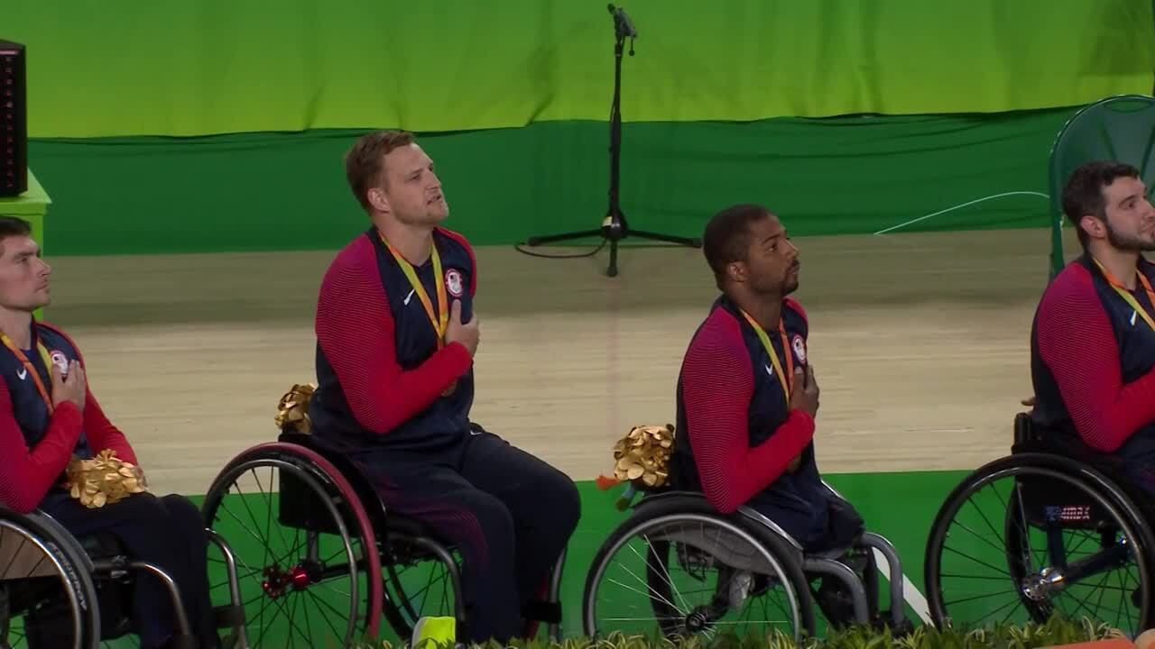 USA vs ESP | Men's Wheelchair Basketball Gold Medal Ceremony | 2016 Paralympic Games