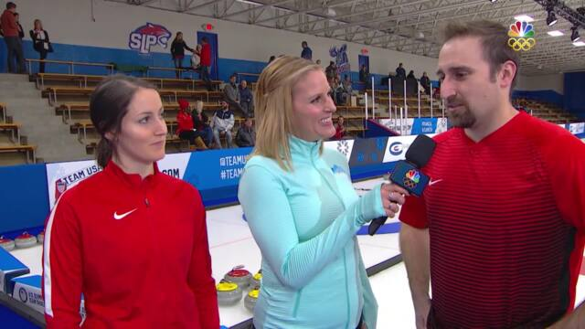Olympic Mixed Doubles Curling Trials | Peterson-Polo Discuss Their Win And Improved Play