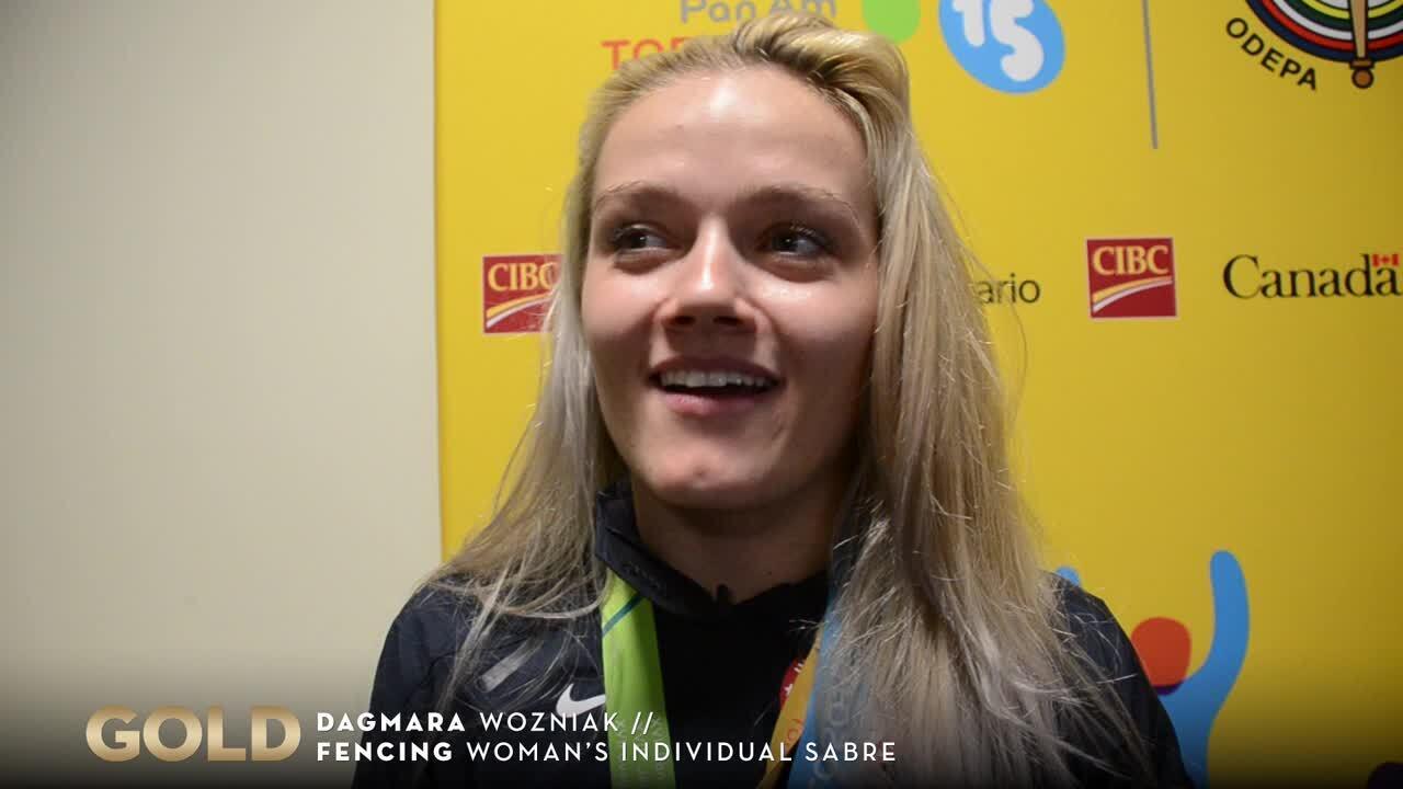 Dagmara Wozniak Rebounds For Gold