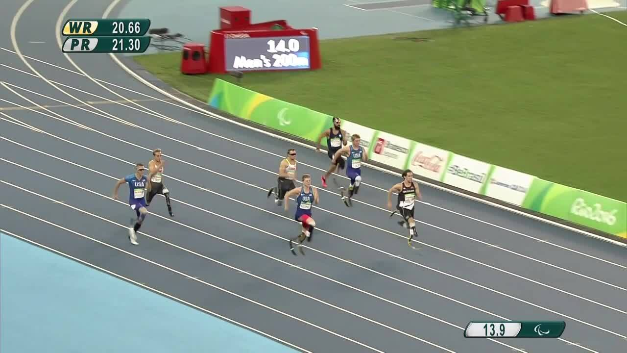 Hunter Woodhall | SILVER | Men's T44 200m Final | 2016 Paralympic Games