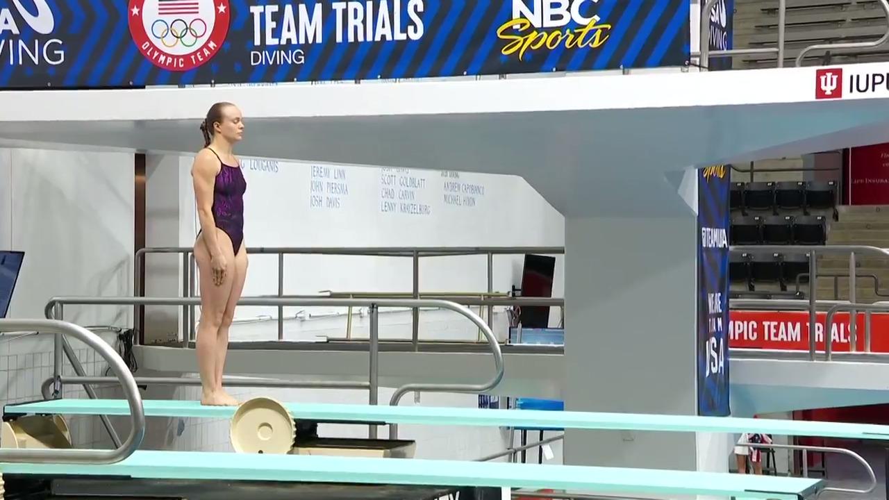 Krysta Palmer Women's 3-Meter Springboard Final Dive | Diving U.S. Olympic Team Trials