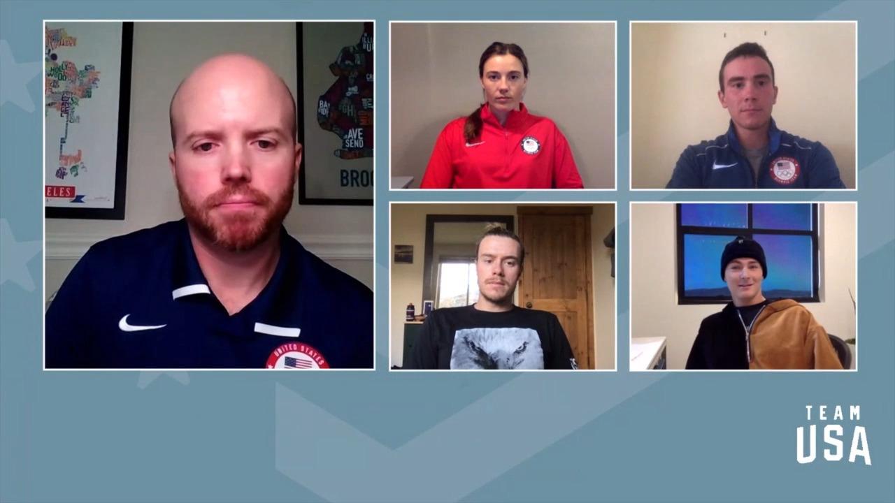 Jake Adicoff, Jake Brown, Jaelin Kauf, Dusty Henricksen | Beijing 2022 Team USA Media Summit