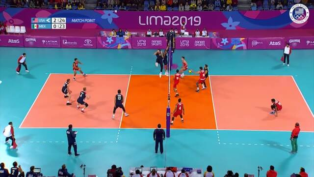 Clean Sweep: Team USA Defeats Mexico In Men's Volleyball | Pan American Games Lima 2019