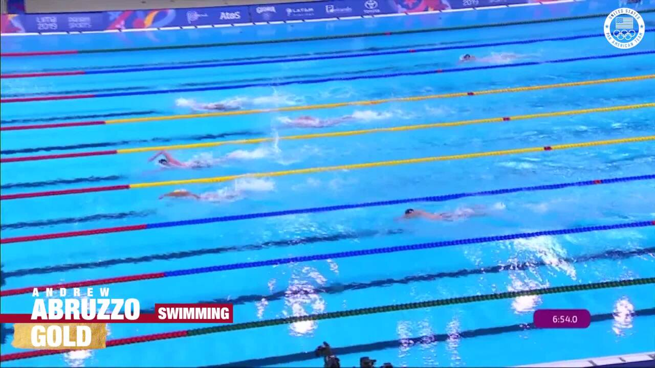 Andrew Abruzzo Wins Men's 800m Freestyle | Pan American Games Lima 2019