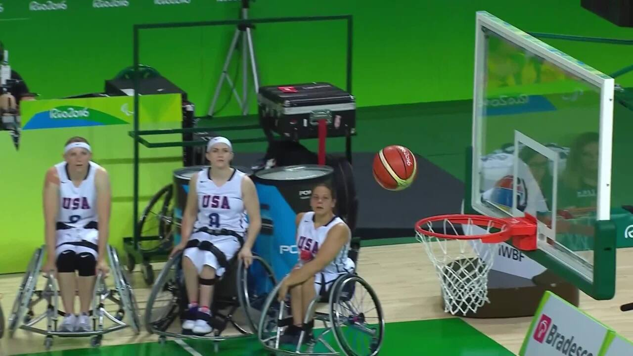 Highlights USA vs CHI Women's Wheelchair Basketball | 2016 Paralympic Games