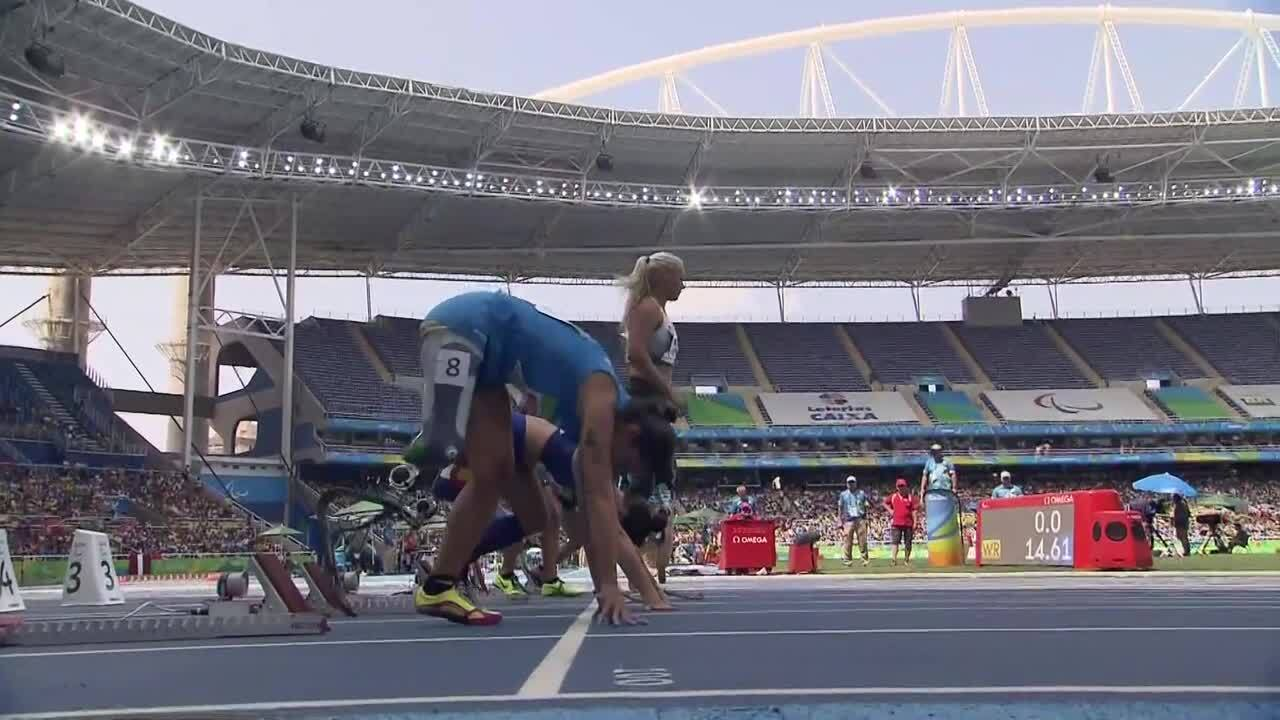 Lacey Henderson  | Women's 100m - T42 Round 1 Heat 2 |2016 Paralympic Games
