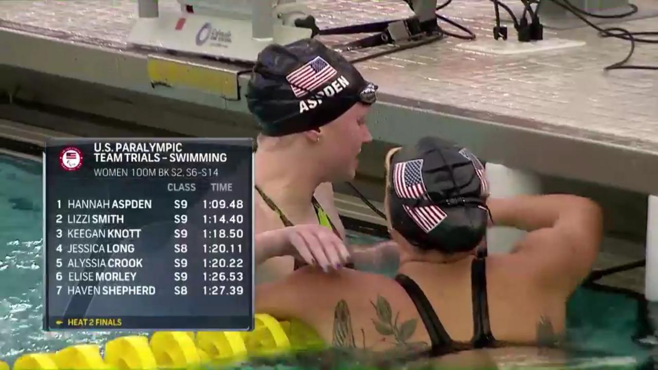 Para Swimming Women's 100-Meter Backstroke S2, S6-S14   U.S. Paralympic Team Trials 2021