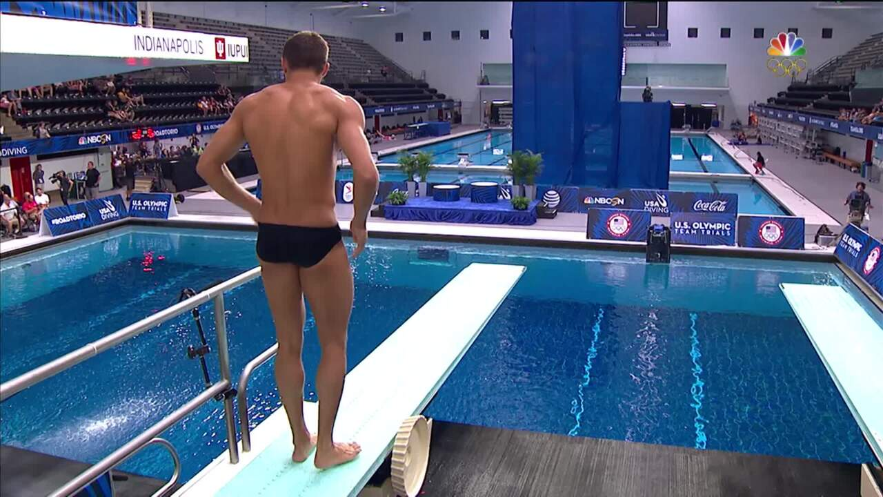 Olympic Diving Trials   Dorman Has Close Call In Semi Round 2 Dive