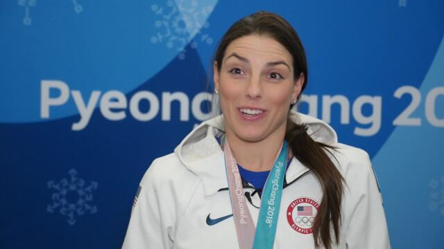 """Meghan Duggan: """"Every Single Member Of The Team Wanted It For Each Other""""   Team USA In PyeongChang"""