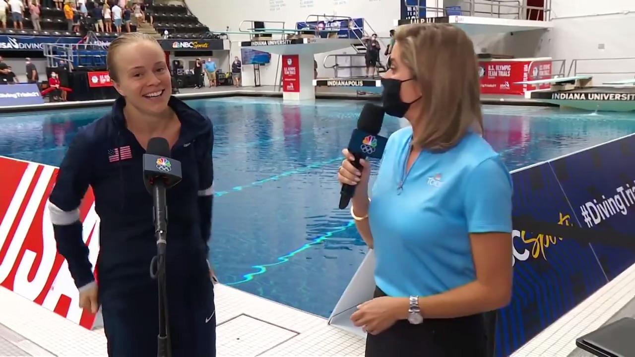 Krysta Palmer Women's 3-Meter Springboard Interview | Diving U.S. Olympic Team Trials