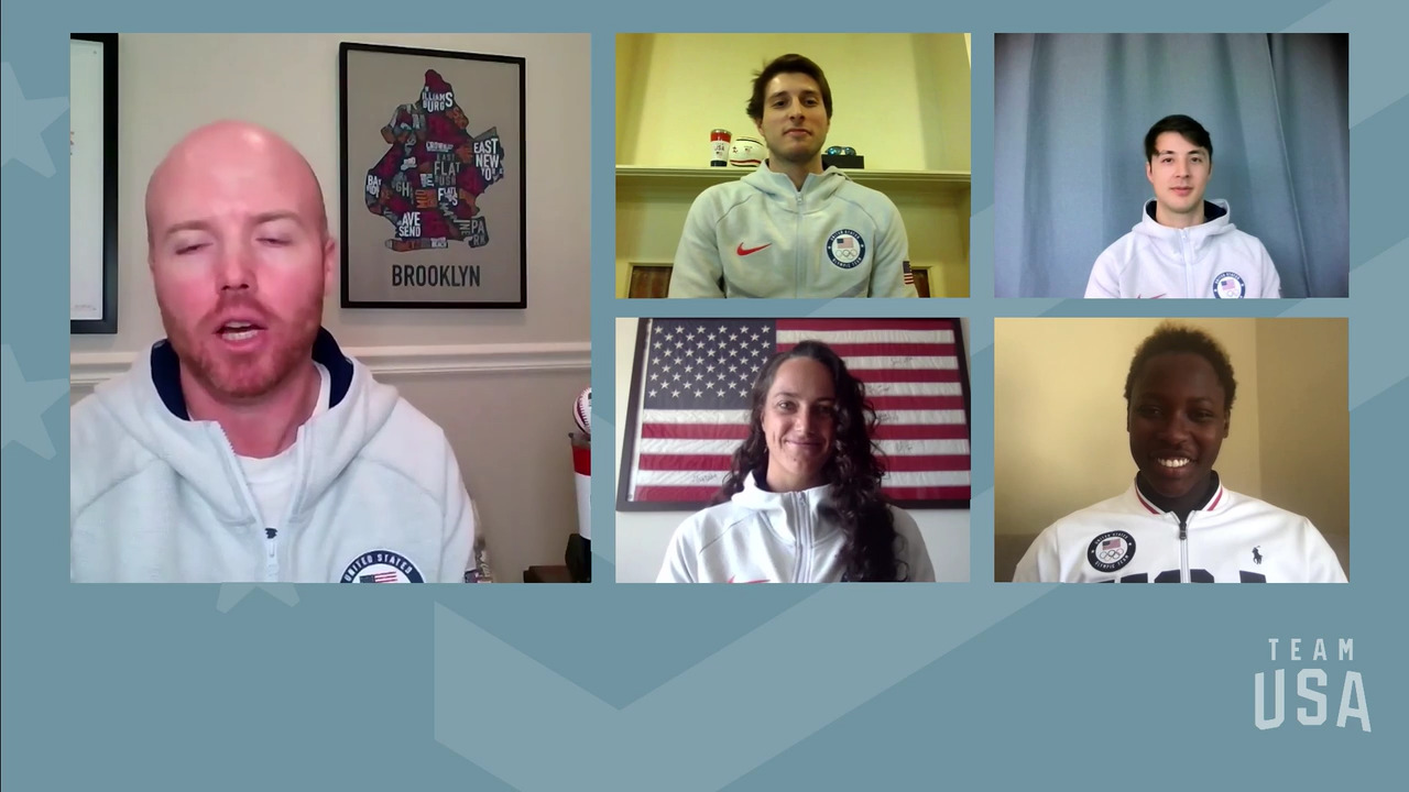 Eli Dershwitz, Ashleigh Johnson, Alex Massialas, Maggie Steffens | Tokyo 2020 Team USA Virtual Media Summit