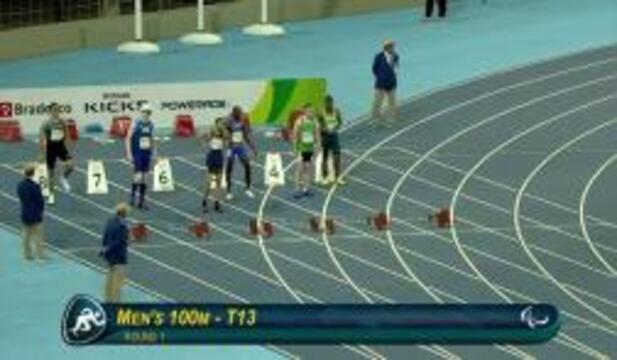 Men's T13 100m Round 1 Heat 1 | 2016 Paralympics