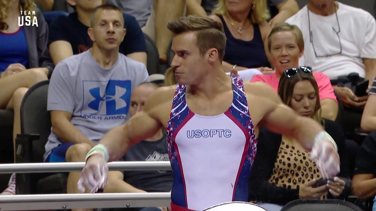 Sam Mikulak On High Bar | Champions Series Presented By Xfinity