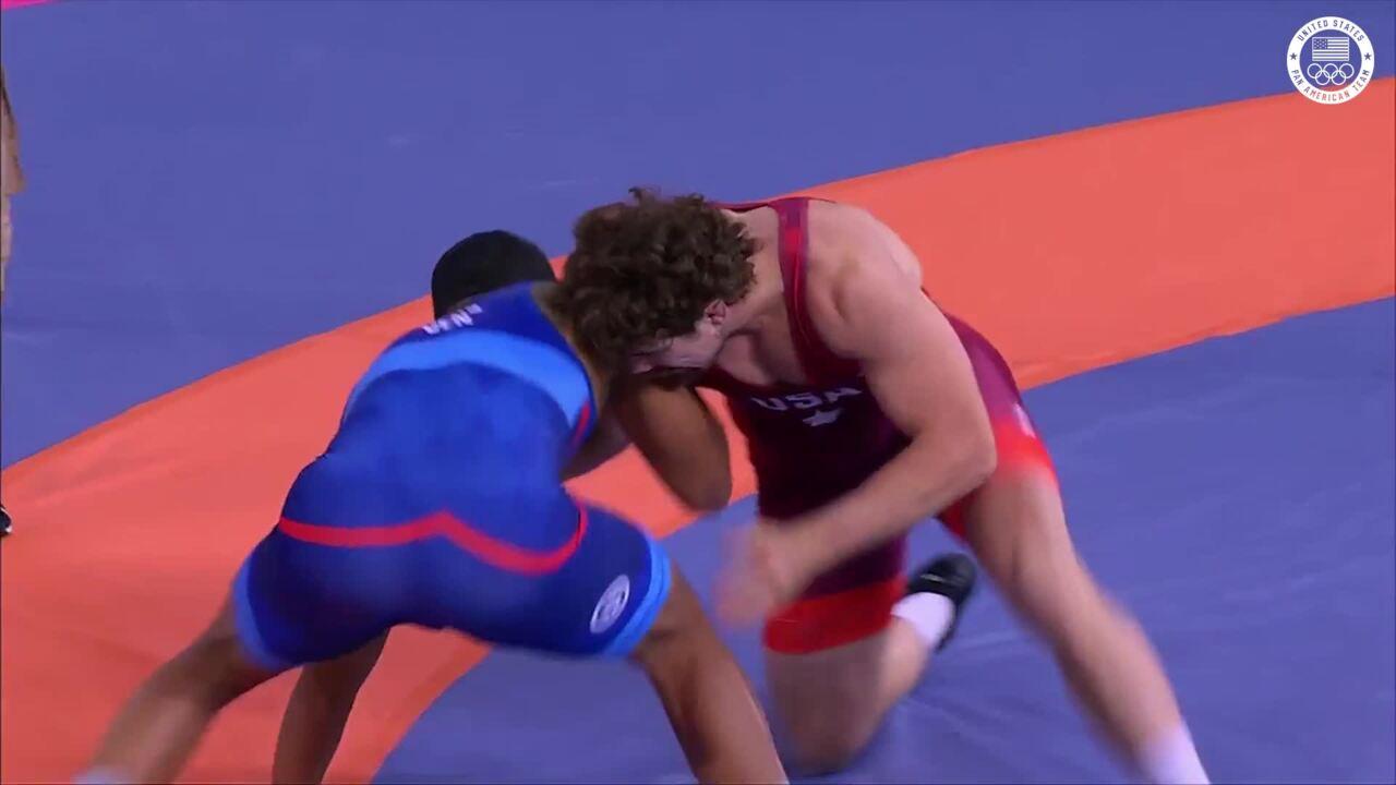 Men's Wrestling Patrick Smith vs. Venezuela | Pan American Games Lima 2019