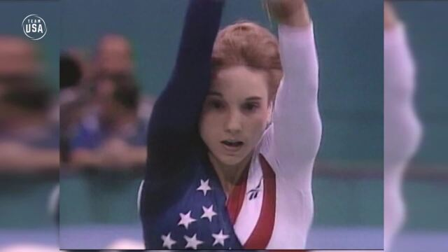 Kerri Strug Perseveres To Win Gold | Gold Medal Moments Presented By HERSHEY'S