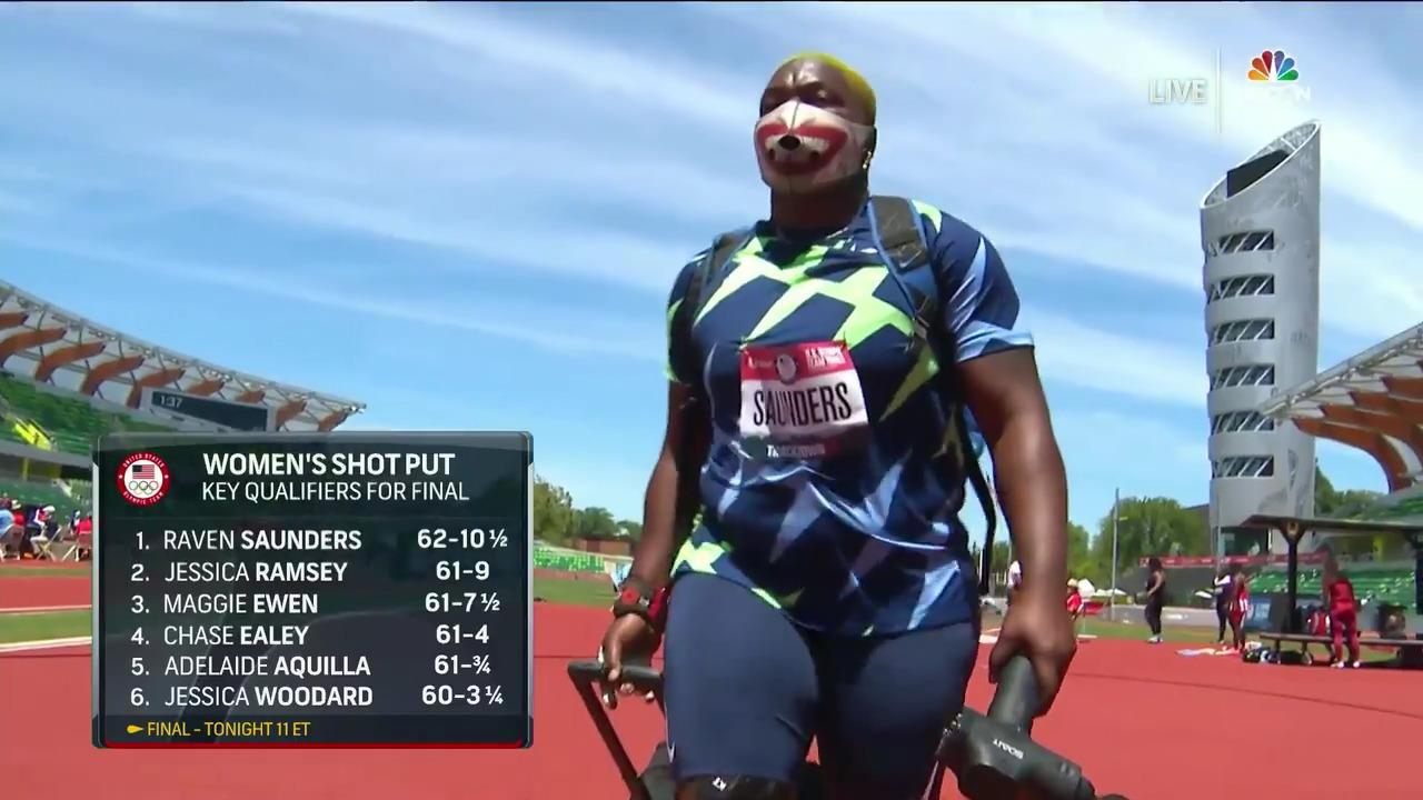 Raven Saunders Women's Shot Put Qualifying Round   Track & Field U.S. Olympic Team Trials 2021