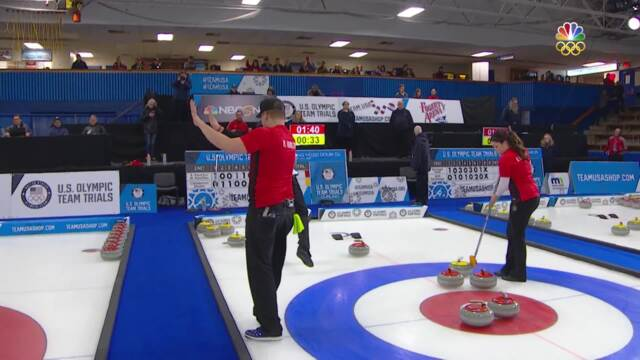 Olympic Mixed Doubles Curling Trials   Becca And Matt Hamilton Are Finals-Bound