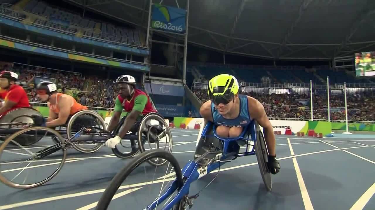 Daniel Romanchuk | Men's 100m T54 Round 1 Heat 2 | 2016 Paralympic Games