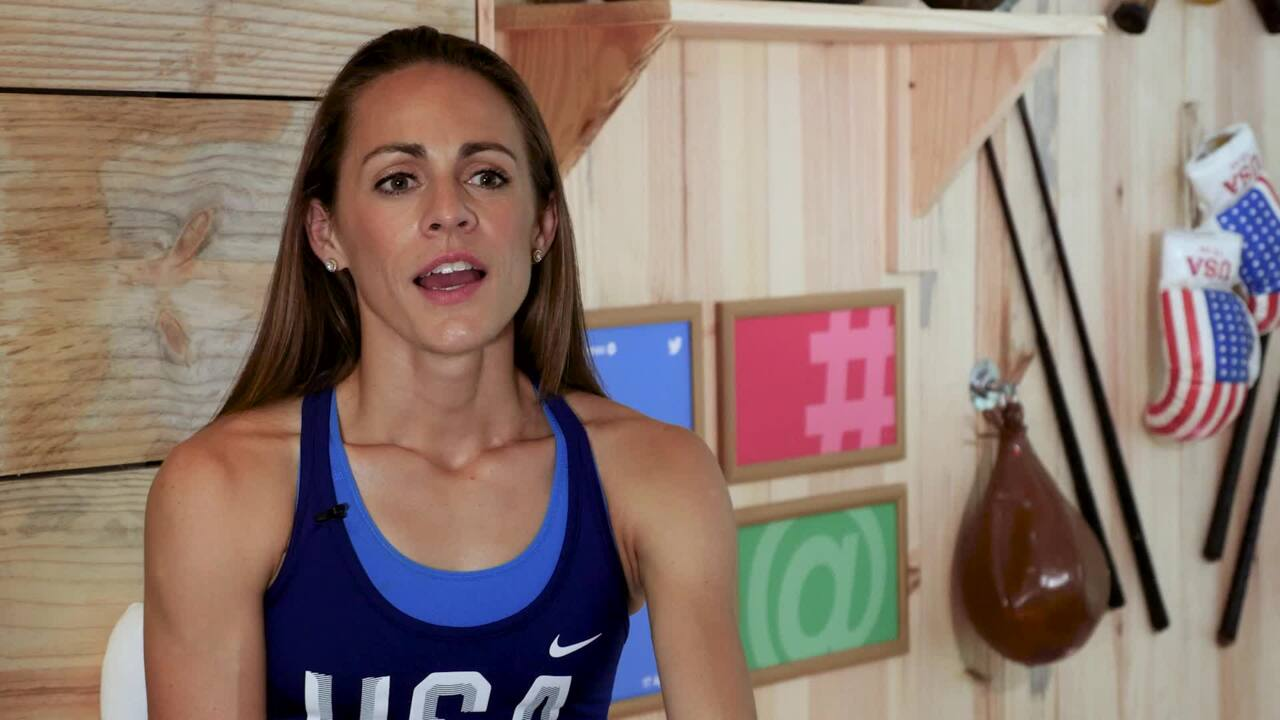 Jenny Simpson Offers Advice To Young, Aspiring Athletes